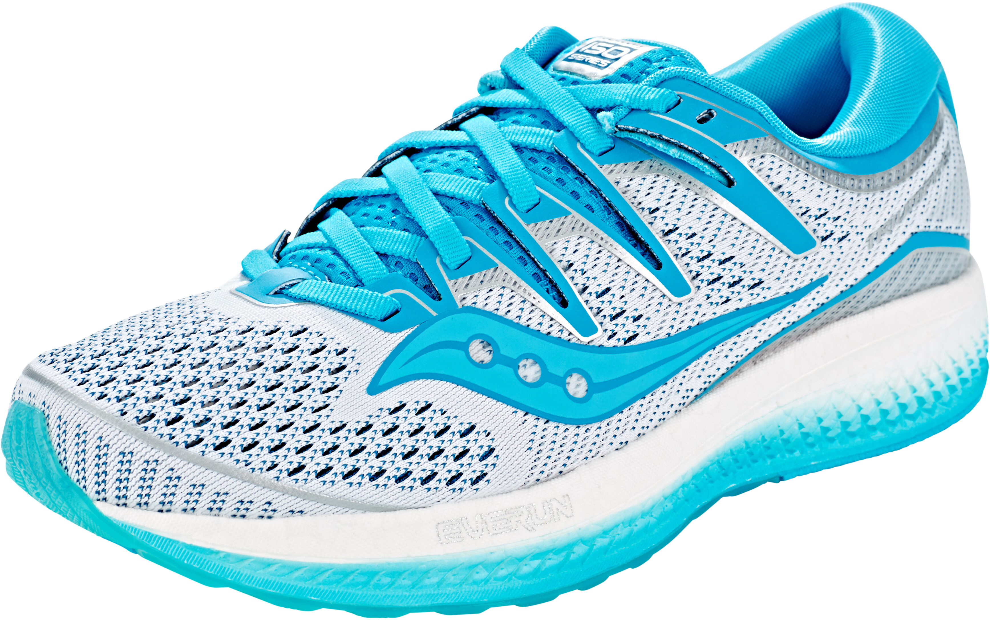 08c09f1cdd8 saucony Triumph ISO 5 - Chaussures running Femme - blanc turquoise ...